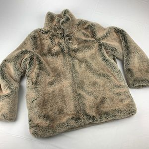 Faux fur teddy jacket size M